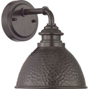 Englewood Antique Bronze 8-Inch One-Light Outdoor Wall Lantern