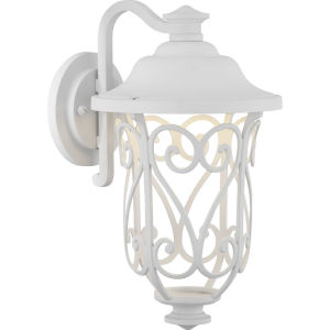 White 8-Inch LED One-Light Outdoor Wall Lantern