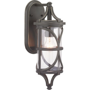 Morrison Antique Bronze 6-Inch One-Light Outdoor Wall Lantern With Transparent Glass