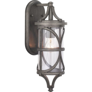 Morrison Antique Pewter 6-Inch One-Light Outdoor Wall Lantern With Transparent Glass