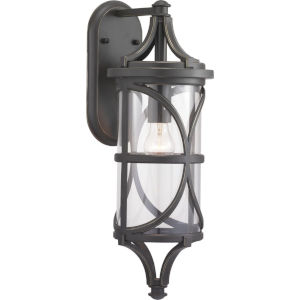 Morrison Antique Bronze 7-Inch One-Light Outdoor Wall Lantern With Transparent Glass