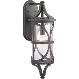 Morrison Antique Bronze One-Light Outdoor Wall Lantern With Transparent Glass