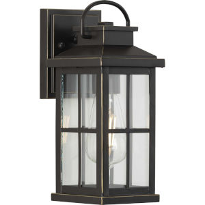 Williamston Antique Bronze One-Light Outdoor Wall Lantern with Clear Glass