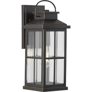 Williamston Antique Bronze One-Light Outdoor Wall Lantern