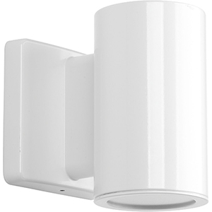 P563000-030-30K: Cylinders White Energy Star LED Outdoor Wall Sconce