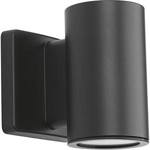 P563000-143-30K: Cylinders Graphite Energy Star LED Outdoor Wall Sconce