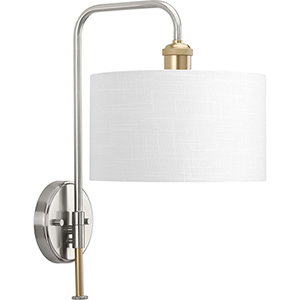 P710034-009: Cordin Brushed Nickel One-Light Wall Sconce