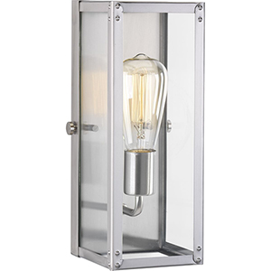 P710038-135: Union Square Stainless Steel One-Light Bath Sconce