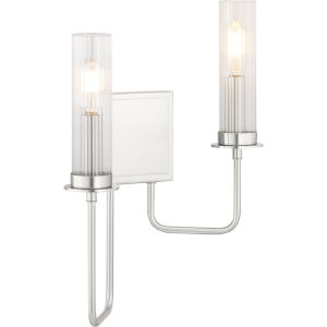 Rainey Brushed Nickel Two-Light wall sconce