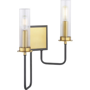 Rainey Graphite Two-Light wall sconce