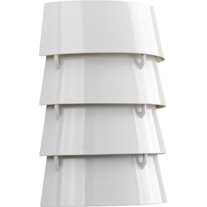 Surfrider White Two-Light Wall Sconce