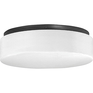 P730005-031-30: Drums and Clouds Black Energy Star LED Flush Mount