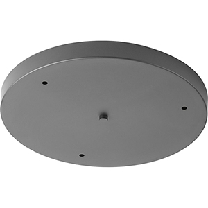 P8403-143: Graphite Three-Light Round Pendant Canopy