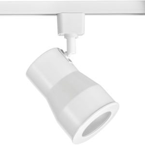 Satin White LED One-Light Large Track Head