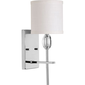 P2060-15 Status Polished Chrome 6-Inch One-Light Bath Sconce