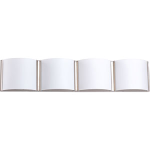 P2064-0930K9 Arch Brushed Nickel 29-Inch Four-Light Energy Star LED Bath Sconce
