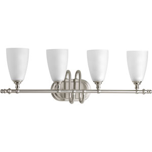 P2077-09 Revive Brushed Nickel 28.5-Inch Four-Light Bath Sconce