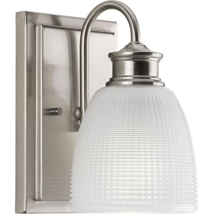P2115-09 Lucky Brushed Nickel 5-Inch One-Light Bath Sconce