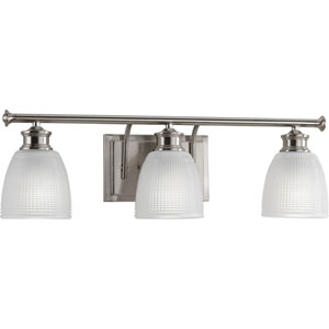 P2117-09 Lucky Brushed Nickel 24-Inch Three-Light Bath Sconce