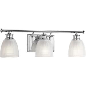 P2117-15 Lucky Polished Chrome 24-Inch Three-Light Bath Sconce