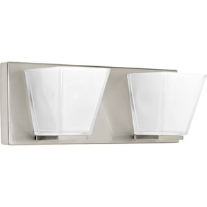 P2124-09 Streaming Brushed Nickel 14-Inch Two-Light Bath Sconce