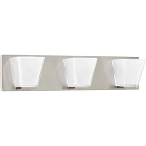 P2125-09 Streaming Brushed Nickel 22-Inch Three-Light Bath Sconce