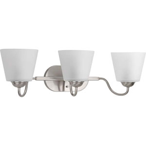 P2129-09 Arden Brushed Nickel Three-Light Vanity