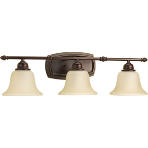 P2137-20 Spirit Antique Bronze 27.5-Inch Three-Light Bath Sconce