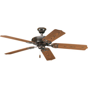 AirPro Antique Bronze 11-Inch Ceiling Fan with 5 52-Inch Blades