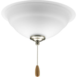 Torino Brushed Nickel Three-Light Light Kit for Ceiling Fan with Etched Glass