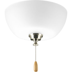 Wisten Brushed Nickel Three-Light Light Kit for Ceiling Fan with Etched Glass