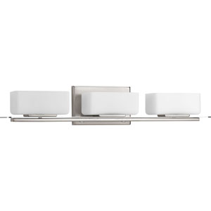 P2717-09 Rush Brushed Nickel Three-Light Vanity