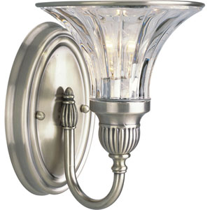 P2724-101:  Roxbury Classic Silver One-Light Bath Fixture