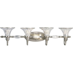P2728-101:  Roxbury Classic Silver Four-Light Bath Fixture