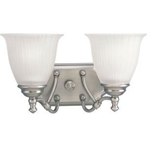 P2730-81:  Renovations Antique Nickel Two-Light Bath Fixture