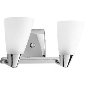 P2806-15:  Rizu Polished Chrome Two-Light Bath Fixture
