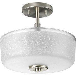P2851-09:  Alexa Brushed Nickel Two-Light Semi Flush Mount