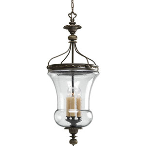 P2879-77:  Fiorentino Forged Bronze Three-Light Pendant
