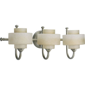 P2887-134WB:  Ashbury Silver Ridge Three-Light Bath Fixture
