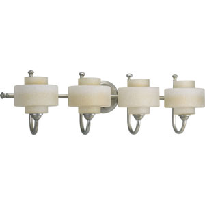 P2888-134WB:  Ashbury Silver Ridge Four-Light Bath Fixture