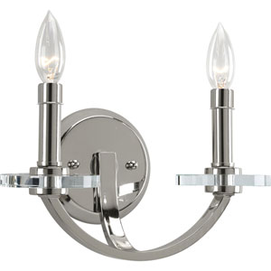 P2933-104:  Nisse Polished Nickel Two-Light Wall Sconce
