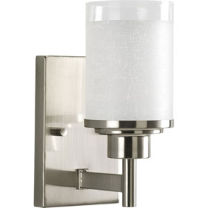 P2959-09:  Alexa Brushed Nickel One-Light Bath Fixture