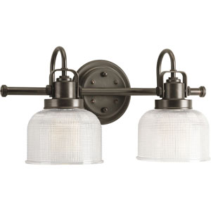P2991-74:  Archie Venetian Bronze Two-Light Bath Fixture