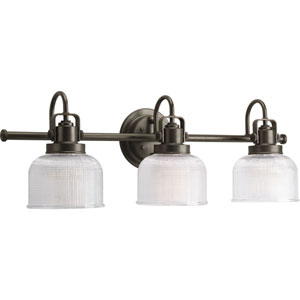 P2992-74:  Archie Venetian Bronze Three-Light Bath Fixture
