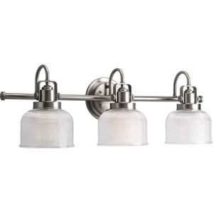 P2992-81:  Archie Antique Nickel Three-Light Bath Fixture