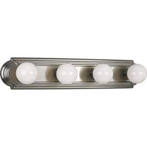 P3025-09:  Brushed Nickel Four-Light Bath Fixture