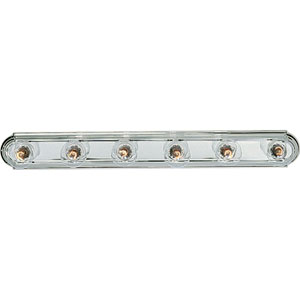 P3026-15:  Broadway Polished Chrome Six-Light Bath Fixture