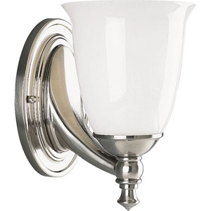P3027-09:  Brushed Nickel One-Light Bath Fixture