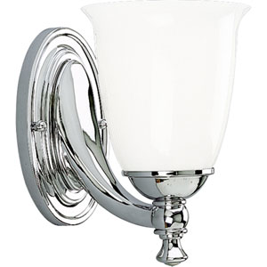 P3027-15:  Polished Chrome One-Light Bath Fixture