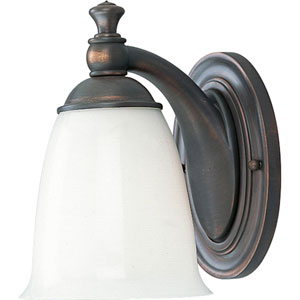 P3027-74:  Venetian Bronze One-Light Bath Fixture